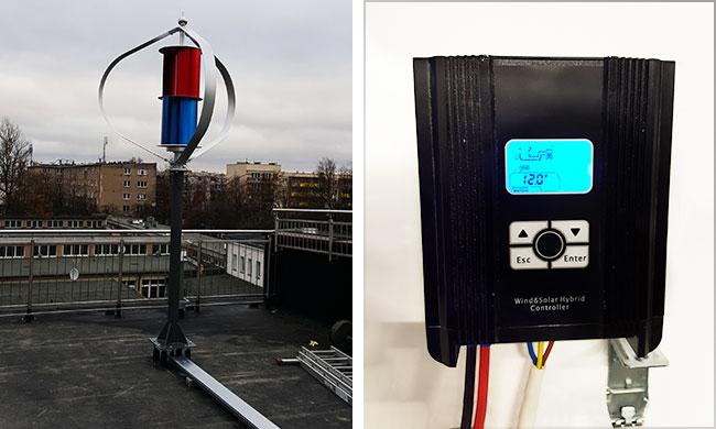 风光互补控制器500W12V 风力发电机发电系统应用
