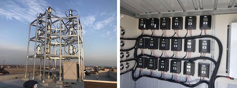 风光互补智能控制器600W24V 风能和太阳能发电系统应用