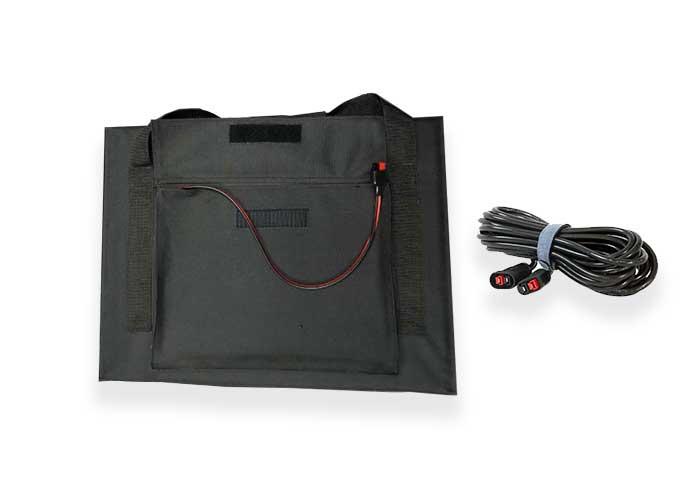 80W-100W-18V单晶硅太阳能折叠包 便携式太阳能板线缆