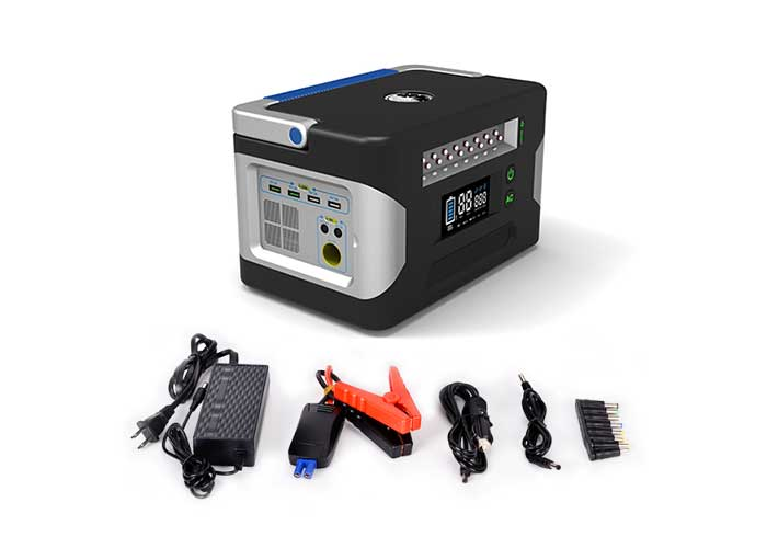 500W-AC-DC多功能太阳能便携电源 充电适配器及充电电缆线