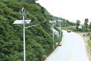 深圳碧岭风光互补路灯系统