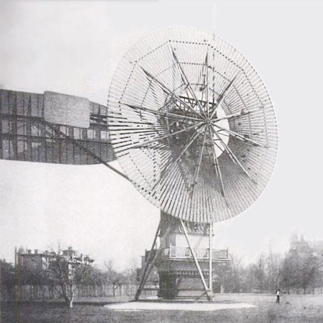 首座风力发电机