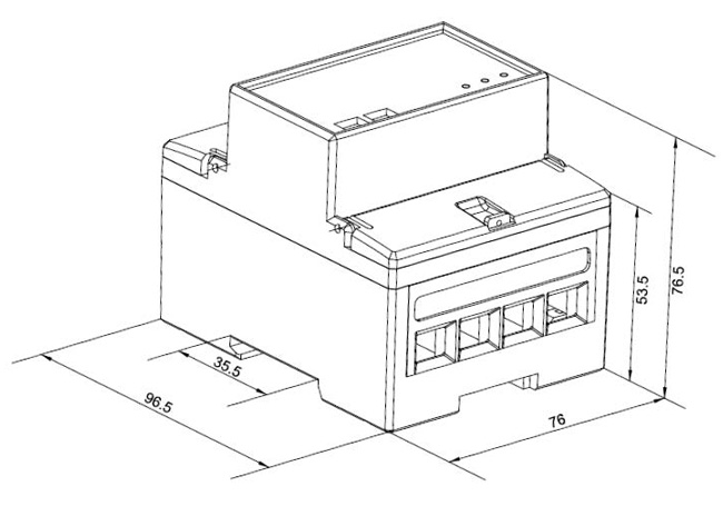 多功能单相电表SDM320C 100A 电表规格