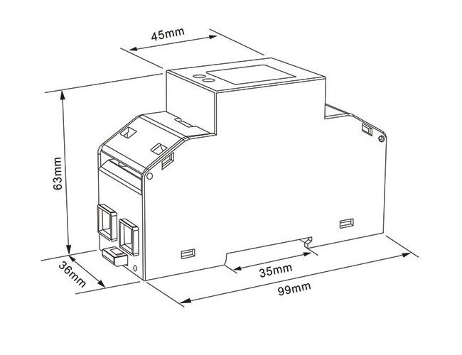 多功能单相电表SDM230-Modbus 100A RS485 电表规格