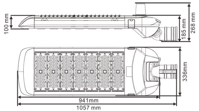 LED路灯U-SL1807-350W 尺寸规格