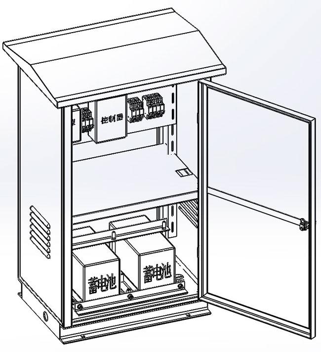 离网配电柜户外不锈钢配电柜设计图,配电柜设计