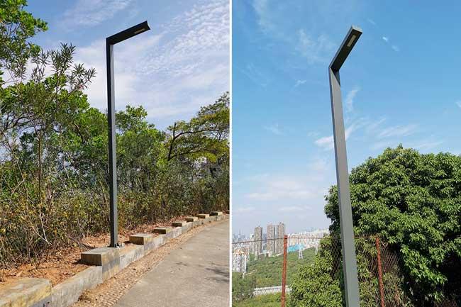 矩形管路灯杆公园道路照明