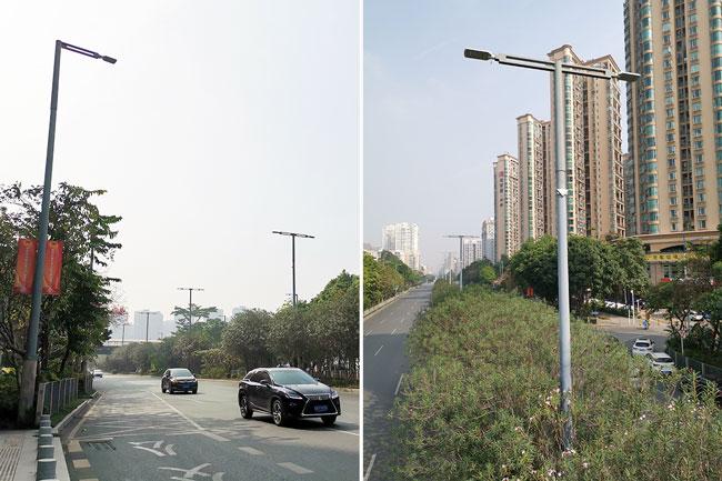 道路照明路灯杆,优瑞力能源路灯项目