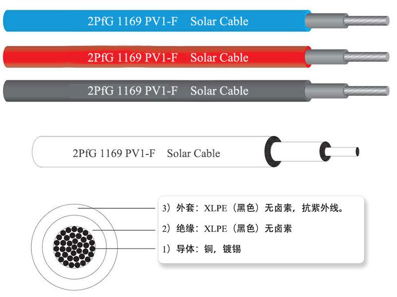 PV1-F 1000V 单芯光伏电缆