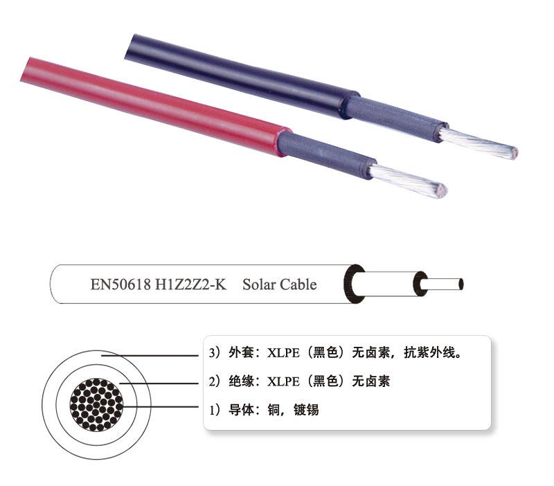 H1Z2Z2-K 1500V 单芯光伏电缆