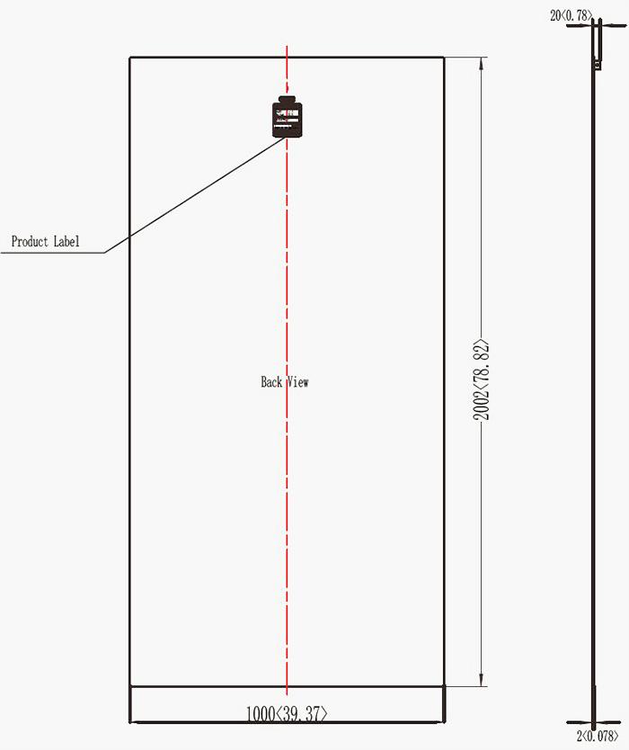 370W-375W柔性太阳能板尺寸图